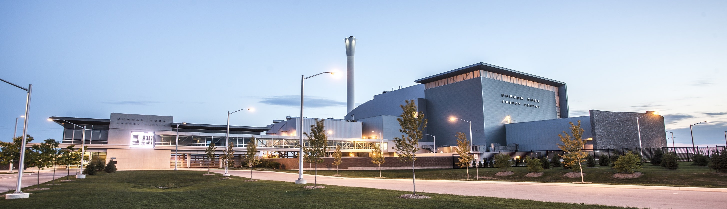 Outside view of the Durham York Energy Centre